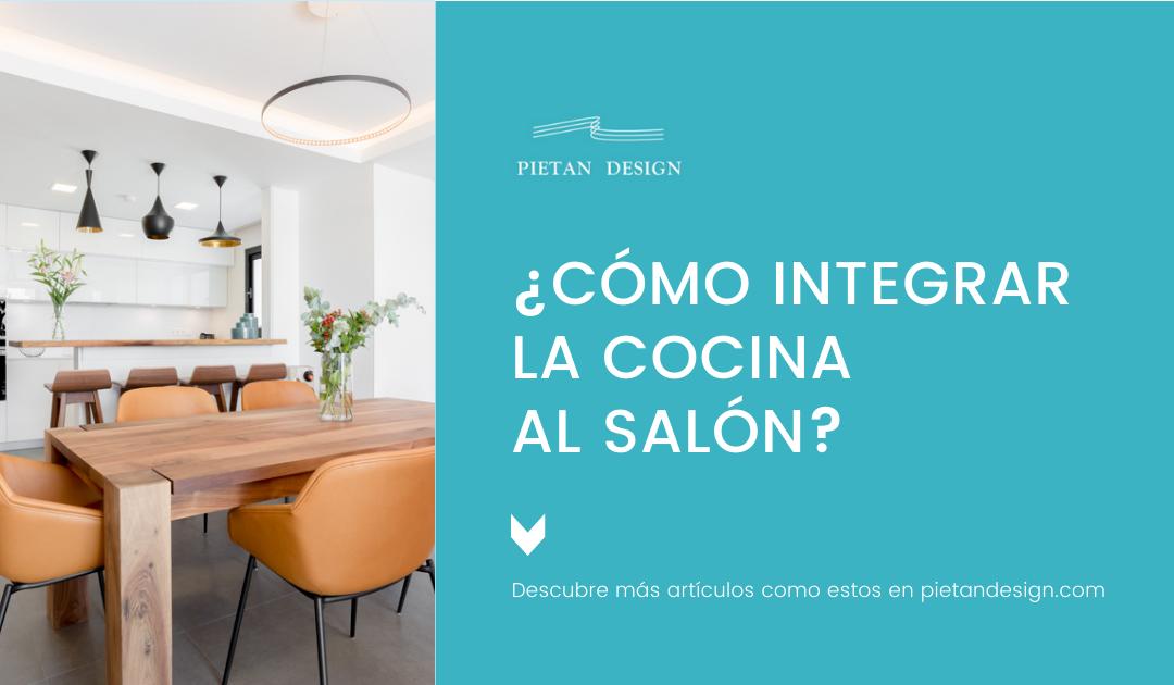 Cómo integrar la cocina al salón?